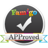 Famigo APProved badge for Best Android Apps